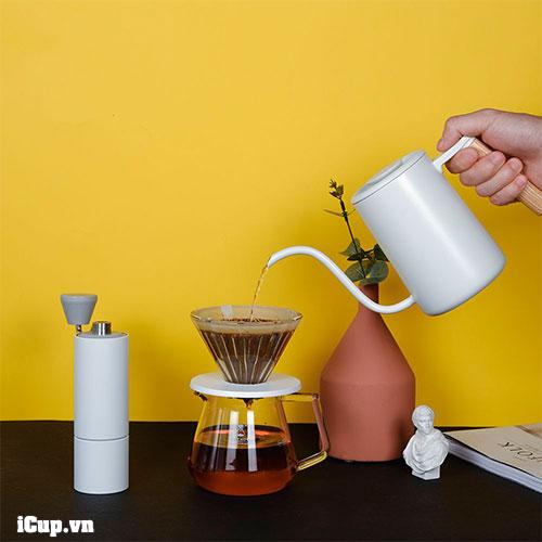 Lite Drip Set White - Bộ pha cà phê V60 màu trắng tinh tế giá mềm của Timemore