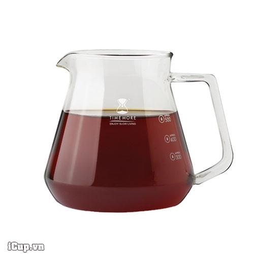 Bình thuỷ tinh phục vụ cà phê Timemore 600ml