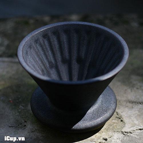 Chiếc phễu gốm phủ men kim loại của Timemore