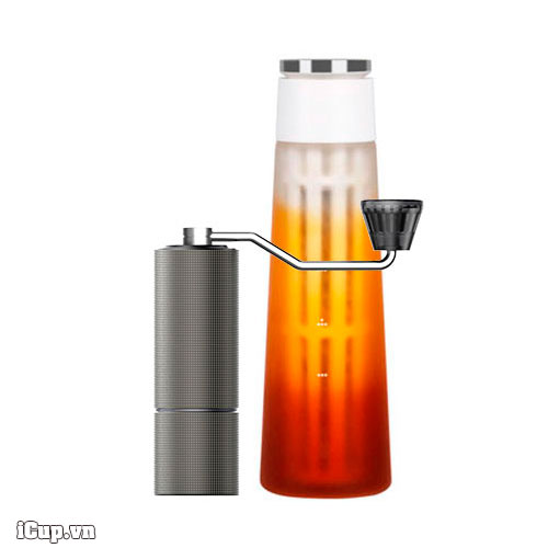 Home Cold Brew Set - Icicle Cold Brewer + Máy xay cà phê tay Timemore Lite C2
