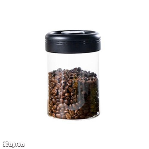 Bình thuỷ tinh bảo quản cà phê có van hút chân không Timemore 800ml