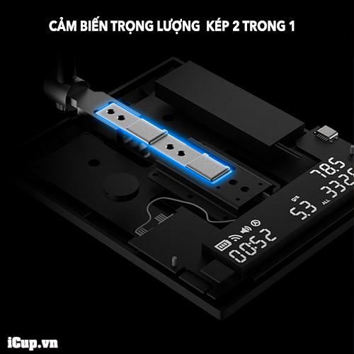 Cảm biến trọng lượng kép cho phép cân điện tử Timemore Mirror 2 theo dõi song song thông số lượng nước pour over