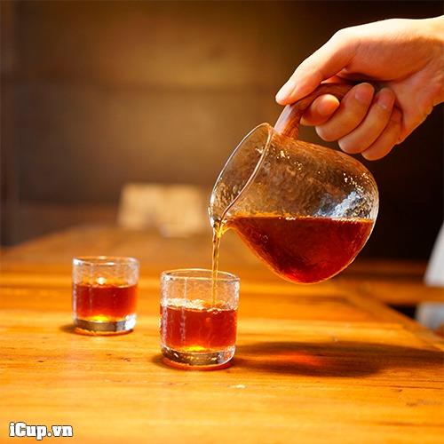 Bộ bình phục vụ cà phê và 2 cốc thủy tinh Timemore Chuimu