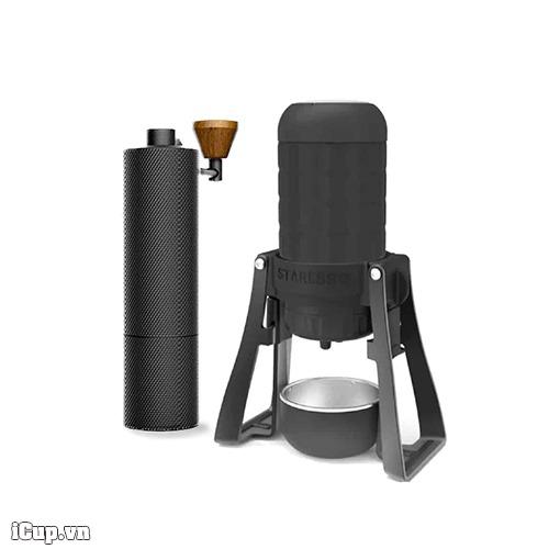 Combo Staresso Mirage và máy xay cà phê tay Timemore Slim Plus